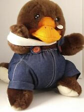 "Vintage 1991 Down Under Orphans Baby Platypus Toys Around The World 13"" Plush"
