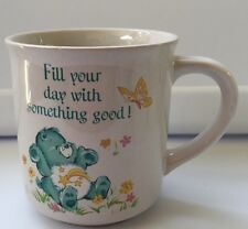 Care Bears Coffee Mug Cup Green Fill Your Day With Something Good Vintage