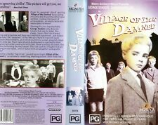 VILLAGE OF THE DAMNED - VHS - N&S - PAL - Original Oz sell-thru release