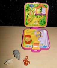 Vintage Polly Pocket 1989 Bluebird WILD ZOO WORLD Pink Compact w/ 3 ANIMALS NICE