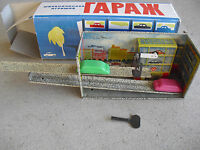 Vintage Russia Made Tn Windup Car Garage with 2 Cars NIB