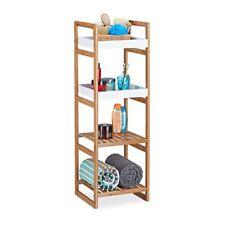 Relaxdays Estantería con 4 niveles madera Marrón 33x36x110 cm