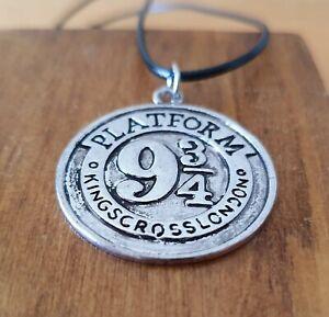 Harry Potter Hogwarts Platform 9 3/4 Pendant Gold Silver Necklace