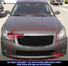 Fits Nissan Altima SER Black Billet Grill Combo 05-06
