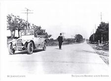 """*Postcard-""""The St. Joseph County""""/Area/ *Lincoln Highway Across Indiana (A101-1)"""