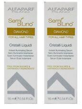 2 x Alfaparf Milano Semi Di Lino Diamond Instant Illumintating Serum 16ml New