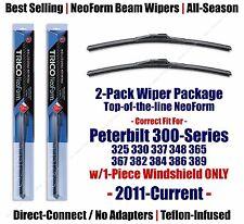 Wipers 2pk Premium fit 2011-2015 Peterbilt 300-Series w/1-Piece Glass 16160x2