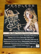 TAYLOR SWIFT - 2010 FEARLESS Australian Tour - Laminated Promotional Poster