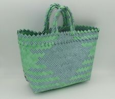 Handmade Indonesian Recycled Plastic Tote Shopping Bag Handbag Eco Friendly