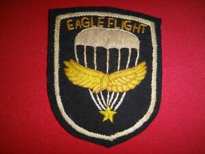 "Vietnam War ""EAGLE FLIGHT"" Det. Pre-MIKE FORCE Special Forces Hand Made Patch"