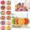 3D Plush Donuts Fruit Round Cushion Cover Pillows Sofa Seat Chair Pad Floor Mat