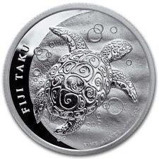 2013 $2 Fiji 1 oz. Silver BU Hawksbill Turtle Taku Coin