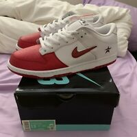 Supreme X Nike SB Dunk Low White Red | New 100% Authentic Size 13 Ships ASAP