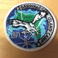 BOY SCOUTS SUFFOLK COUNTY COUNCIL GARDINERS ISLAND CAMP NY PATCH 1971 NEW