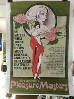 PLEASURE MASTERS ,  ADULT POSTER Sticker/ please read special item here......