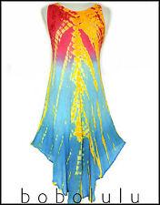 FAB SUMMERY SLEEVELESS TIE DYE DRESS • COOL FLOWY FESTIVAL BOHO BEACH SURF 8-16