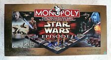COLLECTORS EDITION Star Wars MONOPOLY Episode I 3-D Board Game 100% Complete