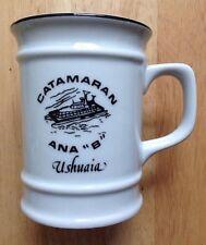 CATAMARAN ANA B RESTAURANT WARE COFFEE MUG, DRESDEN CHINA, USHUAIA, ARGENTINA