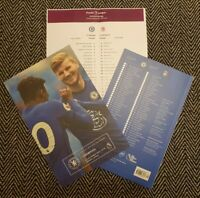 Chelsea v Liverpool 20/9/2020 PREMIER LEAGUE MATCH PROGRAMME WITH TEAMSHEET!!!