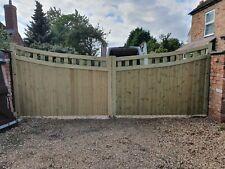 driveway gate h6ft w15ft heavy duty
