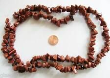 Fil 85cm PERLES CHIPS pierres couleur MARRON GOLDSAND DIY Bijoux Déco PIER40