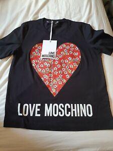 Love Moschino Flower Heart T Shirt