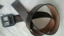 REPLAY BELT,Size 95,Genuine Leather,Black/Brown,Made in Italy,Men's