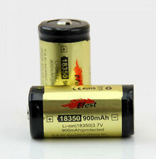 2x Efest 18350 900mAh 3.7v Rechargeable LI-ION Protected Battery Button Top Gold