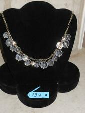 J Crew Chunky Clear Bead Rhinestone Bead Necklace ~ EUC ~ Lot 134