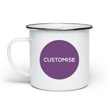 Personalised Fun Initial Camping Festival Outdoor Enamel Mug Metal Tin Cup Gift