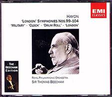 Thomas BEECHAM: HAYDN London Symphony 99 100 101 012 103 104 EMI 2CD Military