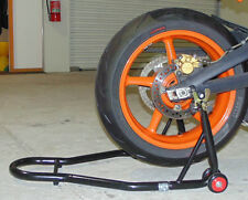HEAVY DUTY MOTORBIKE BIKE REAR WHEEL PADDOCK STAND,LIFT,KAWASAKI, + CHAIN BRUSH