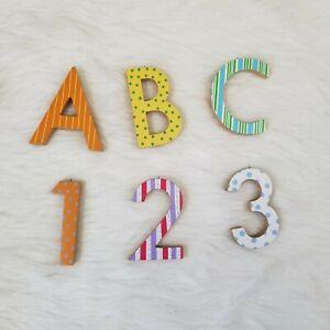 Pottery Barn Kids Letters Numbers ABC 123 Wall Decor Room Nursery School Cute
