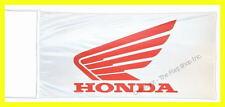 HONDA MOTOS FLAG BANNER  WHITE gold wing st1300 super hawk 5 X 2.45 FT 150 X 75
