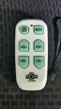 Easy Mote Universal Big Button TV Remote Easymote DT-R08WC Backlit Easy Use used