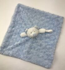 Blankets & Beyond Nunu Lovey Lovie Blue Minky Security Blanket 17x15.5 Bear