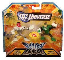 DC Comic universe action league blanc sinestro vs green lantern action figure