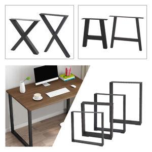 2Pcs Industrial Table Legs Cabinet Chair Desk Metal Leg Set Fashion Black Units