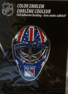 New York Rangers Sp Edition MASK Raised Color Chrome Auto Emblem Decal Hockey
