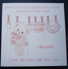 PERSONALISED CONGRATULATIONS BIRTH OF YOUR BABY or Granddaughter CARD