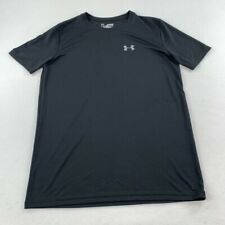 Under Armour Shirt Youth Extra Large Black Gray Heat Gear Gym Athletic Kid Boys