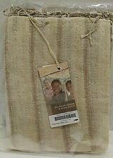 Scarf Hand Woven Yarn Dye Natural Dye Brown Tan Stripe 80 x 200 cm New