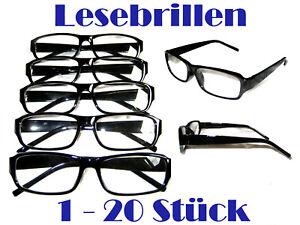 1-20 Stück Lesebrillen Lesebrille Brille Lesehilfe Sehhilfe SCHWARZ versch. DPT