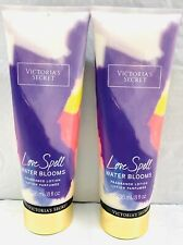 2 VICTORIA'S SECRET LOVE SPELL WATER BLOOMS FRAGRANCE LOTION PARFUMEE 8oz NEW!