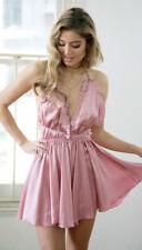 Women Sexy Lingerie Sleepwear Satin Babydoll Lace Robe Sleep Jumpsuit Night Gown