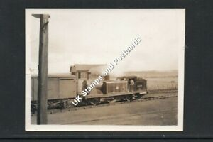 Small Photograph Of British Rail Locomotive 55199 At Dingwall Station In 1955