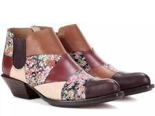 COACH Patchwork Bandit Shoe Booties Boots Floral Leather Q8180 Womens 6.5 $495