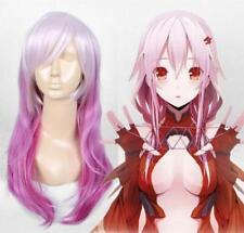 Guilty Crown YUZURIHA INORI Cosplay Wig Long Pink PASTEL Natural Hair Wigs  A44
