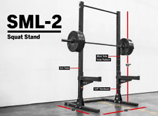 "SML-2 ROGUE 90"" MONSTER LITE SQUAT STAND WITH J CUPS NEW and PULL UP BAR(single)"