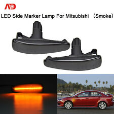 For Mitsubishi Lancer EVO X Outlander Smoked Lens LED Side Marker Signal Lamp 2X